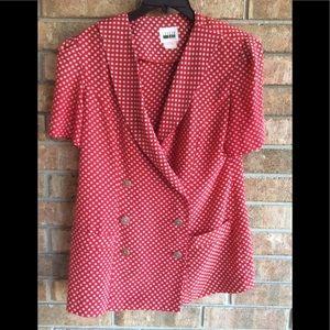 Ladies 2pc Vintage Dress By Leslie Fay